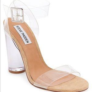 Steve Madden Never worn Clear heels